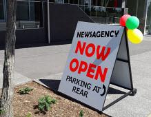 Newsagent opening