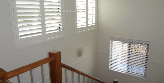 Plantation Shutters Staircase