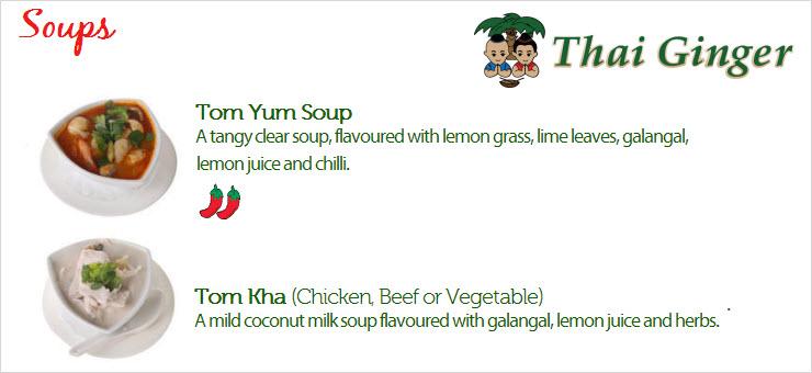 Thai Ginger Soups