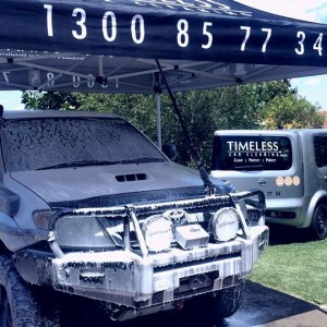 Mobile detailing with a gazebo.