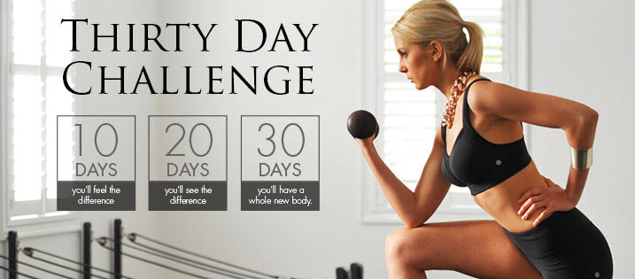 Pilates 30 Days Challenge Classes