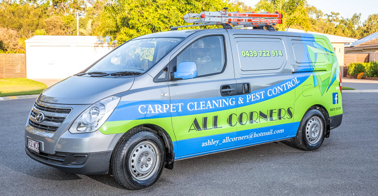All Corners Carpet Cleaning Vehicle
