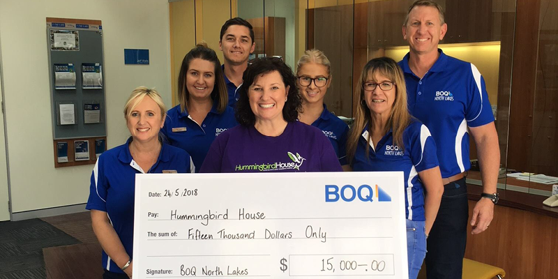 BOQ-NORTH-LAKES-raises-15k-for-hummingbird-house