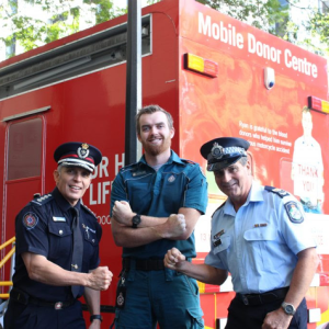 QPS blood donation champions